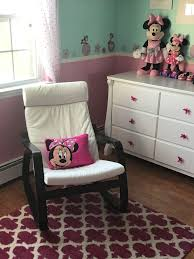 Minnie Mouse Nursery With Ikea Poang Rocking Chair, Rug From ... Ikea Poang Rocking Chair Cream Wooden In Ss14 Basildon For A Gender Neutral Pastel Nursery With Mountain Mural J Jen White Lounge Model Axvall Baby Cartlands Tour Rocking Chairs Ikea Girlidolco Rockingchair Pong Birch Veneer Hillared Anthracite Fniture Enchanting For Your Living Hack Rocker In The Nashstyling Gray Julia Brunos Colorful And Airy Home Little One Stylish Cozy Attractive Inexpensive I K E