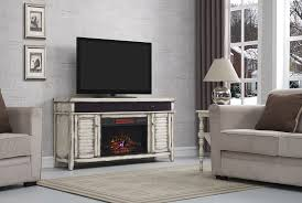 Simmons Infrared Electric Fireplace Entertainment Center In Country White