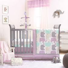The Peanut Shell 3 Piece Baby Girl Crib Bedding Set Little