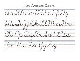 Fancy Handwriting Alphabet
