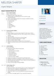 Graphic Design CV Example