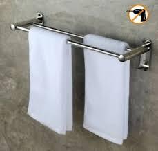 details zu zweiarmig handtuchhalter 50cm mit haken selbstklebend handtuchstange bad
