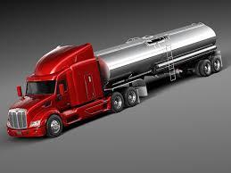 100 Semi Truck Toy Peterbilt 579 Tanker 2012 3D Model