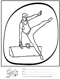 Olympic Gymnastics Pummel Horse Coloring Page