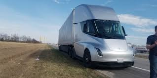 100 Semi Truck Pictures Tesla Prototype Spotted Apparently Broken Down Makes Naysayers