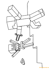 Minecraft Zombie Villager Coloring Page