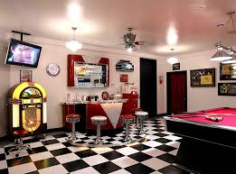 View In Gallery Exclusive 1950s Style Game Room With Coke Machine Soda Bar And A Jukebox