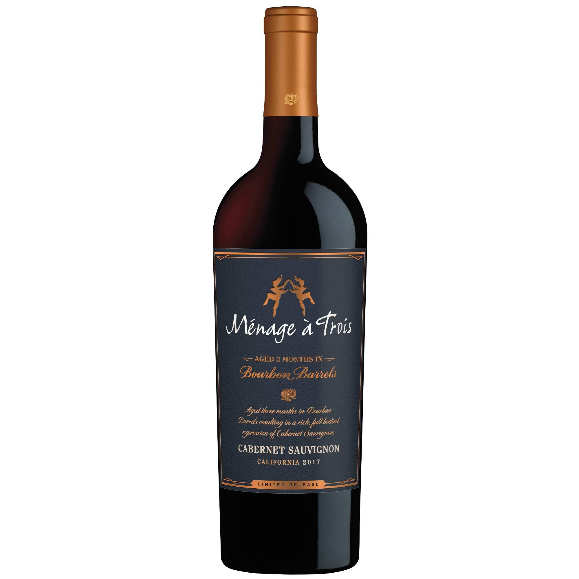 Menage A Trois Cabernet Sauvignon, Bourbon Barrels, California, 2016 - 750 ml