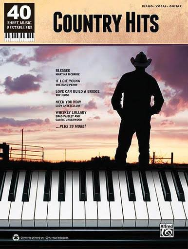 Country Hits: Country Hits: 40 Sheet Music Bestsellers Series, Piano/Vocal/Guitar Songbook - Hal Leonard
