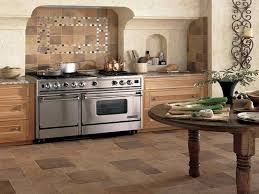 tuscan kitchen with beautiful brick like kitchen floor