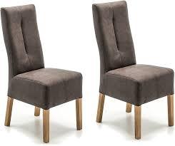 robas lund stühle 2er set braun küchenstuhl mit kunstlederbezug stuhlbeine massivholz eiche geölt stuhl fabius