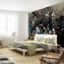 Justice League Photo Wallpaper Superhero Wall Mural Custom Art Room Decor Large ChildrenS Bedroom Living Comic House