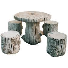 Stone Tree Table Including Chairs 41cm