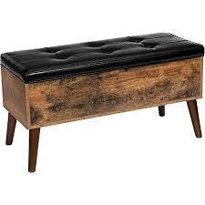 hoobro sitzbank mit stauraum große schuhbank 100 x 40 x 48 cm gepolsterte betttruhe multifunktionale truhe bettbank stabiler für flur