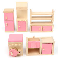 Dollhouse Bathroom Toilet Tub Sink Mirror Furniture Set Accessories