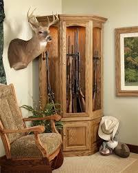 Wooden Gun Cabinet With Etched Glass by Custom Wooden Corner Gun Cabinet