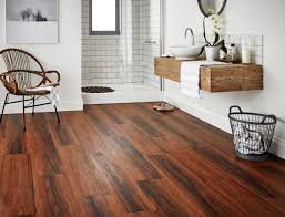 Installing Laminate Floors Over Concrete by Modern Minimalist Bathroom Design With Dark Floating Vinyl Plank