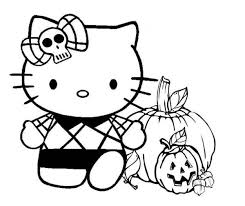 Halloween Coloring Pages For Kids Hello Kitty