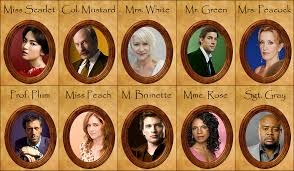 Master Clue Character Cards Clipart