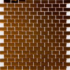 glass tile 5 8 inch bronze mirrored glass subway tile