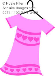 Womens Dress In Pink With Hearts Clipart Images And Stock Photos