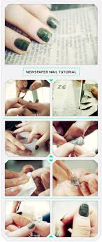 100 Nail Art 2011 Newspaper Tutorial Beautylish