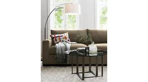 Dexter Floor Lamp Crate And Barrel by Axis Ii 2 Seat Brown Sleeper Sofa Crate And Barrel