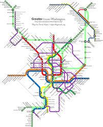 Greater Washington Transit Future a multimodal fantasy map