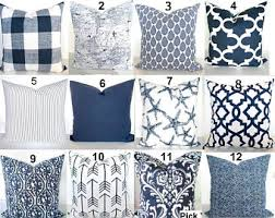 Decorative Couch Pillow Covers by Blue Pillows Blue Throw Pillows Navy Blue Decorative Pillow