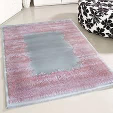 de mynes home teppich modern kurzflor grau rosa mit