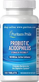 Probiotic Acidophilus 100 Tablets   Probiotics Supplements ...