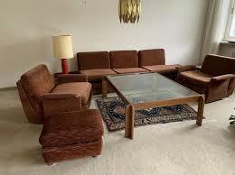 modulares vintage sofa 70 80er cord braun