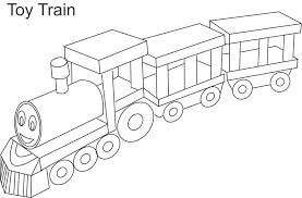 Toy Train Coloring Page For Kids