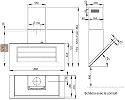 hauteur pour une hotte de cuisine hotte décorative murale inox 90cm avec éclairage par led ajustable