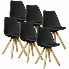 en casa 6x design stühle esszimmer schwarz stuhl holz