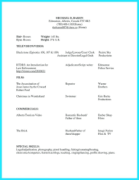 Sample Acting Resume For Beginners Examples Actors