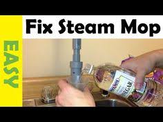 how to decalcify your shark steam mop if it stops steaming but