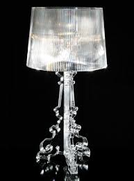 bourgie table l h 68 to 78 cm crystal by kartell