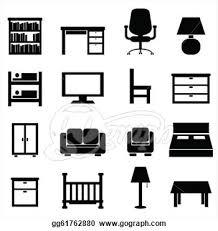 bureau clipart furniture clipart office furniture pencil and in color furniture