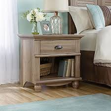 Sauder Harbor View Computer Desk Salt Oak by Sauder Harbor View 1 Drawer Salt Oak Nightstand 415004 The Home