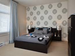 Wall Paper Designs For Bedrooms Classy Delightful In Bedroom