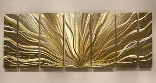 Gold Metal Art Captivating Wall Designs Decor And Silver Modern Review