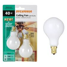 white 2 pack 40 watt a15 candle base fan light bulbs 34898