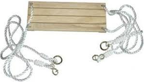 balancoire siege siège en bois avec cordes pour balançoire accessoires portique