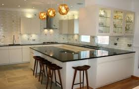 Astounding U Shaped Kitchen With Island Design Furnishing Charming Curtain Is Like Decorating
