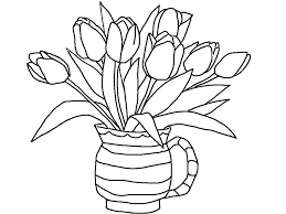 Tulipe 7 Nature Coloriages à Imprimer