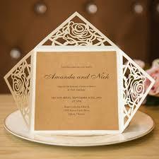 Unique Rustic Laser Cut Wedding Invitations