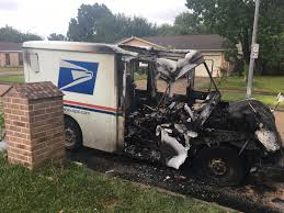 Postal Truck Erupts In Flames After Mail Carrier Smells Gas While ... Heres How Hot It Is Inside A Mail Truck Youtube Usps Stock Photos Images Alamy Postal Two Sizes Included Bonus Multis Us Service Worker Found Dead Amid Southern Californias This New Usps Protype Looks Uhhh 1983 Amg Jeep Vehicle The Working On Selfdriving Trucks Wired What Fords Like Man Arrested After Attempting To Carjack 2 People Stealing 2030usposttruckreadyplayeronechallgeevent Critical Shots Workers Purse Stolen During Mail Truck Breakin Trucks Hog Parking Spots In Murray Hill