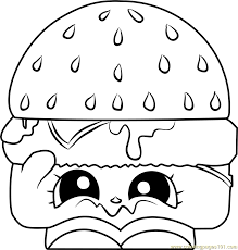 Cheezey B Shopkins Coloring Pages