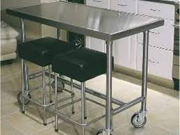 Stainless Steel Movable Kitchen Island Space Saver Movable